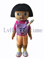 adult dora mascot - High quality Dora the costume mascot Dora mascot costume Fancy Dress Adult Halloween D0001