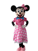 La alta calidad de la mascota de Mickey Minnie traje de la mascota de Mickey Mouse para Halloween, fiestas de cumpleaños, y otras partes de usar, envío rápido
