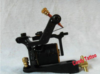 Wholesale Single coil tattoo machine wraps tattoo gun Wire E D M Black Iron Frame NEW
