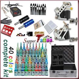 Complete tattoo kit 2 Machines Guns 40 inks set Power Beginner Tattoo Supply ST061