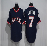 Wholesale Mens Kenny Lofton Ricky vaughn Francisco Lindor Color black Stitched Throwback Baseball Jerseys