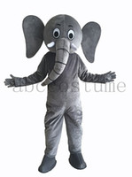 Wholesale High quality Grey Elephant Mascot Costume For Adults Christmas Cartoon anime Halloween Disfraces Fancy Dress E0020