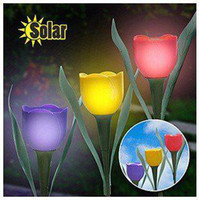 Novelty Solar Powered flower light Garden Path Light Solar l...
