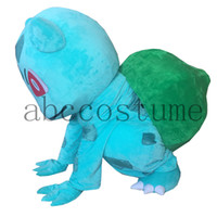Wholesale Poke Mascot Costume Bulbasaur Mascot costume Halloween Birthday Wedding Cartoon Characrer mascot costume C0002
