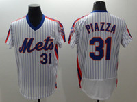 Wholesale Mets Jersey Mike Piazza Bartolo Colon Jacob deGrom Yoenis Cespedes Men s Stitched Embroidery Logos Baseball Jerseys