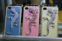 LUXURY Bling Diamond Handmade lizard Gecko hard Case for iph...