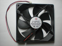 Wholesale Brushless DC Cooling Blade Fan V x120x25mm Black Wires Per Hot Sale