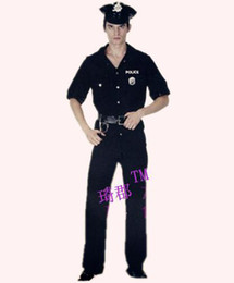 Wholesale Halloween Costume Mans Police Adult Outfit piece