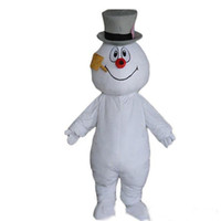 Wholesale Christmas Snowman Mascot Costume Custom Costume Halloween Mascot fancy dress carnival Costume ems