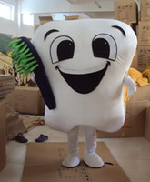 adult toothbrush costume - Teeth with toothbrush mascot costumes performance apparel adult size