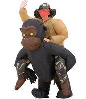 adult gorilla suit - Inflatable Gorilla Funny Halloween Costumes Halloween Realistic Gorilla Suit Mascot m Inflatable Gorilla Costume Adult