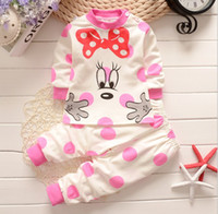 baby clothes packs - newborn baby Mickey cartoon suits sets Children clothing Baby girl boy cute cotton Top pants kids suits Y set pack CQZ040