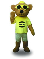 bearing details - Details About Brown Cool Bear Cartoon Suit Halloween Party Fancy Mascot Costume Stage Performance Suit