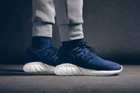 Cheap Dark Blue Boots Mens Ankle boot short shoes Tubular Doom Primeknit y3 40-45