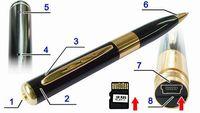 Precio de Micro cámara espía oculto-NUEVO 2GB 4GB 16GB SPY cámara de grabación de vídeo pluma HD DVR compatible con tarjeta micro SD ocultos de Mars-Venus