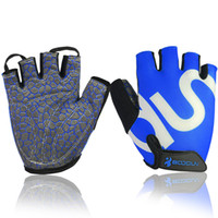 Wholesale 2016 Fitness Gloves Riding Cycling Equipment Silicone Non slip Device Sports Gloves Half Finger For Men and Women