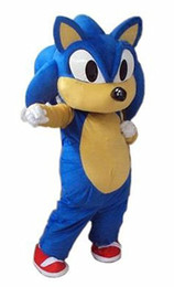 Wholesale Sonic Costume Adults - brand new Adult Size Sonic the hedgehog Mascot Costume for sale Halloween Suit Free Shipping