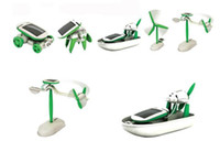 Unisex science kit - 6 in Solar Power Kits Educational DIY Solar Toy Toy Airboat Windmill Puppy Car Revolving Plane