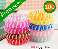Wholesale 100pcs candy color extra large hair bands phone rope hair rope fashion headbands for women A19 A