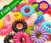 Wholesale 200pcs candy color extra large fashion headbands for women hair bands phone rope hair rope A19 B