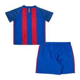 Wholesale Children Soccer Custom Uniforms The New Season La Liga Home and Away Jerseys For Kids Boys Sportswear