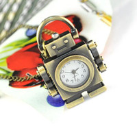 Women's antique brass clock - Robot Necklace Antique bronze jewelry robot clock necklace fashion in Brisbane Aussie NL