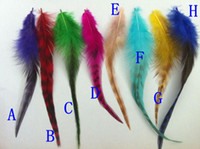 Wholesale grizzly rooster tails feather Feather Extension quot quot FExtensions Feathers Beads
