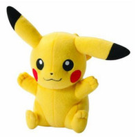 Wholesale EMS Pikachu super cute Plush dolls cm inch Poke plush toys cartoon poke Stuffed animals toys soft Christmas toys best Gifts