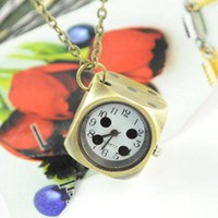 Wholesale classical jewelry personality pocket watch pendant necklace mahjong dice Mix Design NL
