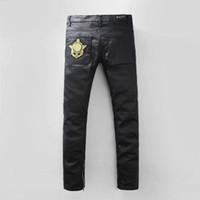 american west leather - High Quantity balmain PU Faux Leather Men Skinny Justin Bieber Clothes Slim Fit Hip Hop Hiphop Pants Zipper Swag Biker Jogger Kanye West