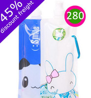 Wholesale Outlet Foldable Water Bottles Crtoon Drinking Bottles Reusable Water Bags Promotion Gifts FD25D