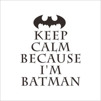 baby sports room - DIY Keep Calm Batman Wall Sticker Easily Apply Removable Waterproof PVC No Pollution Kids Baby Room Decoration Wall Decor x17 quot