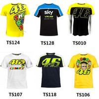 Wholesale New Cotton MotoGP Valentino Rossi VR46 Yellow Cotton The Doctor T Shirt VRMTS Jersey Motorcycle Motorbike Racing VR46 T shirt