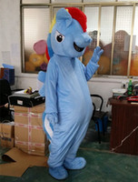 adult horse mascot costume - My Little Pony Horse Mascot Costume Rainbow Dash HighQuality Halloween and Christmas Party Supply Adult Size