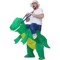 animal rides - Inflatable Dinosaur Costume Ride On Me Party Fancy T Rex Halloween Costumes Animal Carry Me Mascot Costumes For Adults Kids Novelty Toy