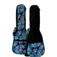 Wholesale Good quality Vintage inch soprano concert tenor ukulele bag package case soft gig padded blue leaves pattern creative gifts kid