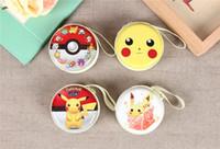 Wholesale Poke wallet bags Children Styles cartoon Poke Ball Pikachu plush Messenger bag Wallets toys best gifts kids gift Key holders A002