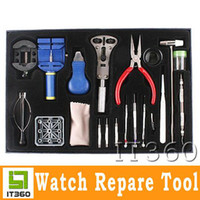 Wholesale 20pcs Horologe Wrist Watch watchmakers Case Opener Repair Tools Set Kit it360