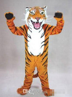 bengal cat tiger - Manufacturers direct marketing professional custom Bengal tiger cat mascot head costume suit Halloween EMS