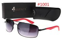 al por mayor gafas sin montura para barato-2016 Gafas de sol de diseñador semi-sin rimless de la playa de la venta de la manera de la venta superior de las gafas de sol baratos del diseñador Hombres y mujeres unisex polarizadas con la caja