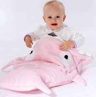 Wholesale Hot Sale Cute Cartoon Shark Baby Sleeping Bag Winter Baby Sleeping Sack Warm Baby Blanket Warm Swaddle