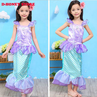 ariel clothing girls - 2016 New arrivals Girls Clothes The Little Mermaid Ariel Kids Girls Dresses Princess Cosplay Halloween Costumes