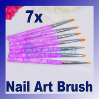 acrylic gel - Nail Art Brush UV Gel Acrylic Nail Art Builder Brush Pen Painting Professional Beauty