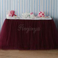Wholesale Burgundy Tulle Tutu Table Skirt Home Textile Wedding Table Skirt cm x cm for Wedding Event Party Baby Shower Chrismas Decorations