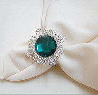 Wholesale high quality emerald Gem Napkin Ring Wedding Bridal Shower Favor