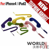 Wholesale Unique Retro Telephone Style Handset for iPhone iPad colors WF IPTH13