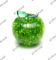 Wholesale 30pcs V57 D Green Red Apple Decorative Crystal Jigsaw Puzzle Light Gift For Christmas Birthday