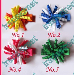 """free shipping1000pcs Girl 1.5"""" korker hair bows korker hair clips Corker hair bows use 1 8 ribbon"""