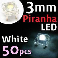 3mm led - 50pcs super flux mm Piranha LED mcd