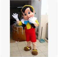 adult pinocchio costume - High quality Pinocchio Mascot Costume Adult Halloween Fancy Dress Cartoon Character Outfit Suit EMS